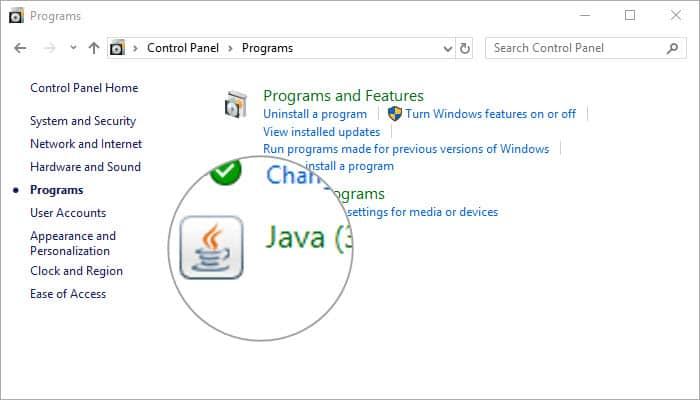 Java turn on