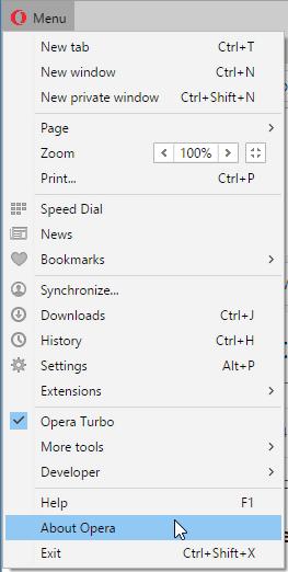 update Opera web browser