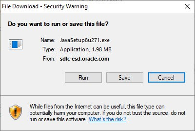 Do you want to run or save this file