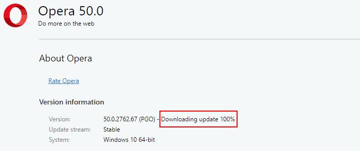 update Opera browser
