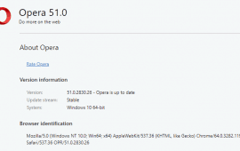 How to update Opera web browser