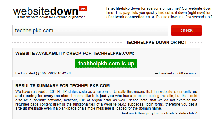 Website up or down