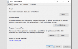 Where is the Java Control Panel on Windows?