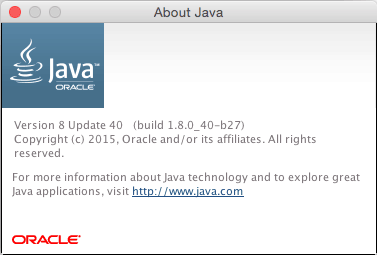find java version in mac