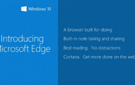 Microsoft Edge, a new default browser for Windows 10