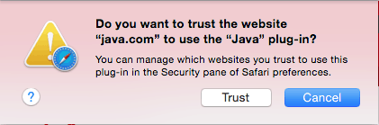 enable and disable Java in Safari on Mac