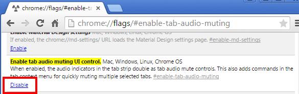audio muting to Chrome tabs