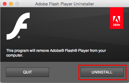 uninstall flash player from mac