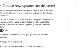 How to stop Windows 10 from using your bandwidth to share updates