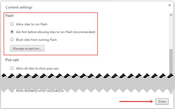 unblock Flash in Chrome
