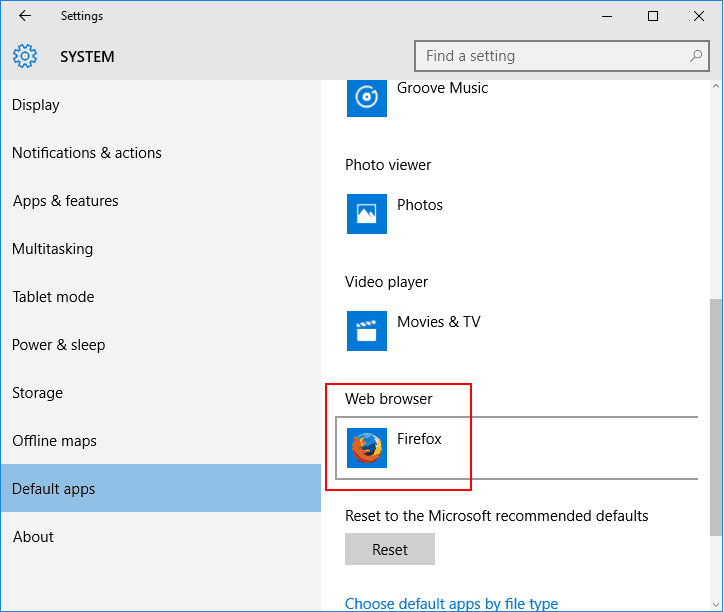How to change the default web browser in Windows 10