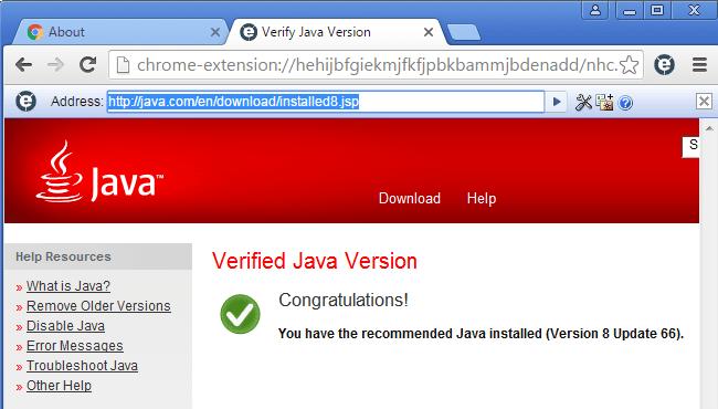 use Java in Google Chrome