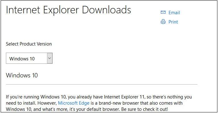 get Internet Explorer 11
