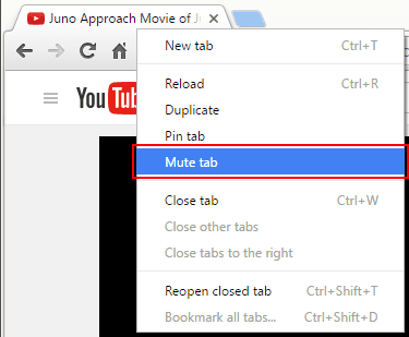 mute tabs in Torch browser