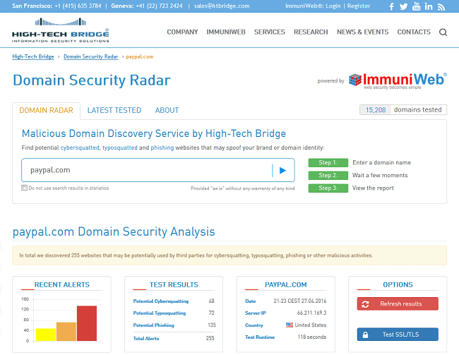 Detect malicious activity targeting your domain