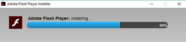 Adobe Flash Player Installing