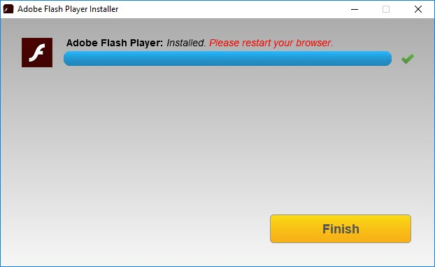 Adobe Flash Player Installed. Please restart your browser.