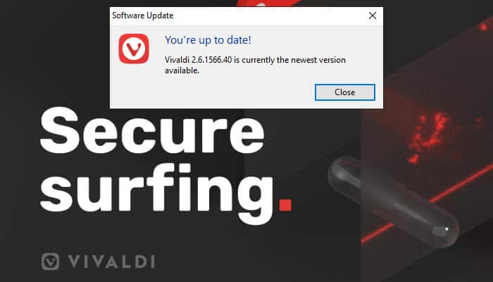 How to update Vivaldi browser | Tech Help Knowledgebase