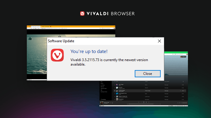 How to update Vivaldi browser