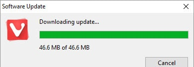 update Vivaldi browser
