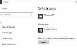 How to make Chrome the default Windows 10 browser
