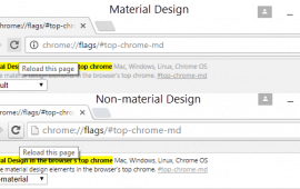 How to disable Material Design in Chrome