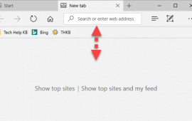 How to affix the Microsoft Edge address bar