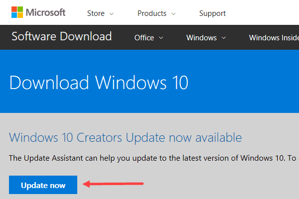 upgrade to Windows 10 Creators Update immediately