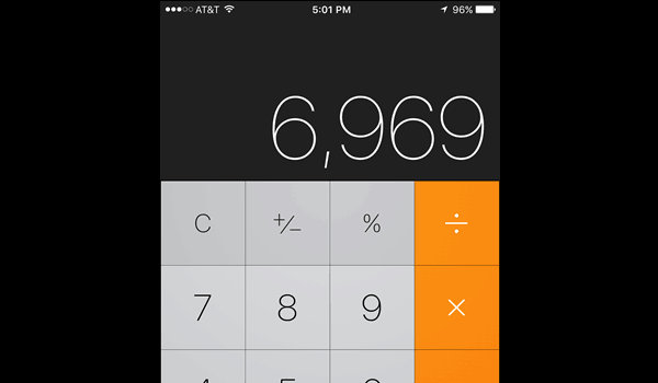 how to delete on iphone calculator