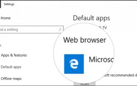 How to change the default Windows 10 web browser app