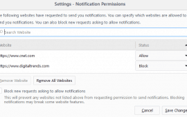 How to block website notification requests in Firefox
