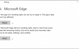 How to fix Microsoft Edge if it stops working