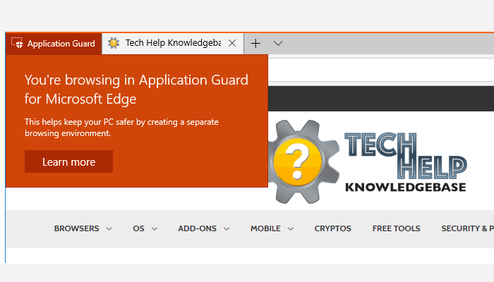 Application Guard for Microsoft Edge