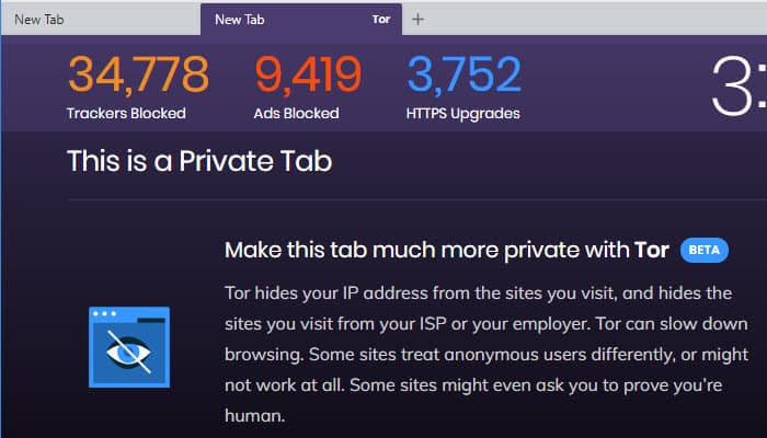 use Tor with Brave browser