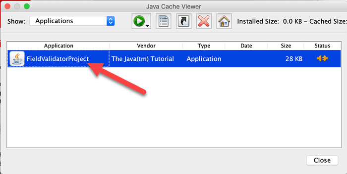 Java cache viewer