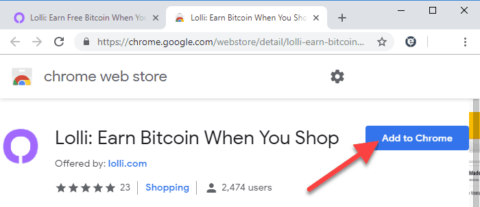 Earn free Bitcoin when shopping