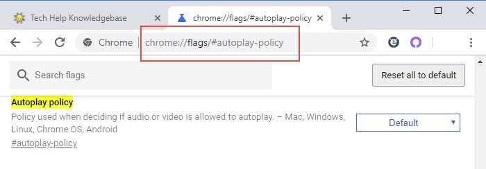 disable autoplay video in Chrome