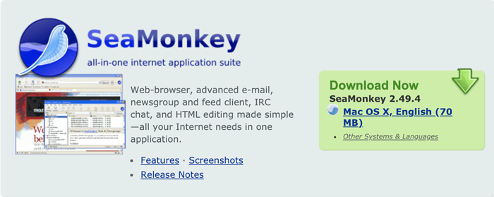 seamonkey all in one internet application suite