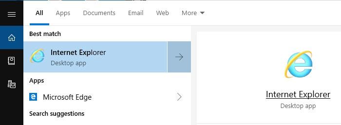 search Windows for Internet Explorer