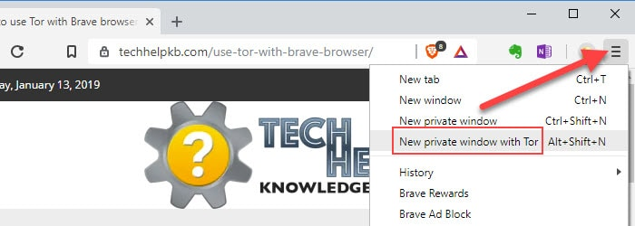 How to use Tor with Brave browser | Tech Help Knowledgebase