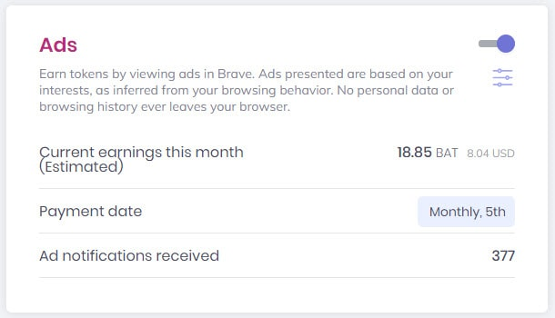 Enable Brave Ads