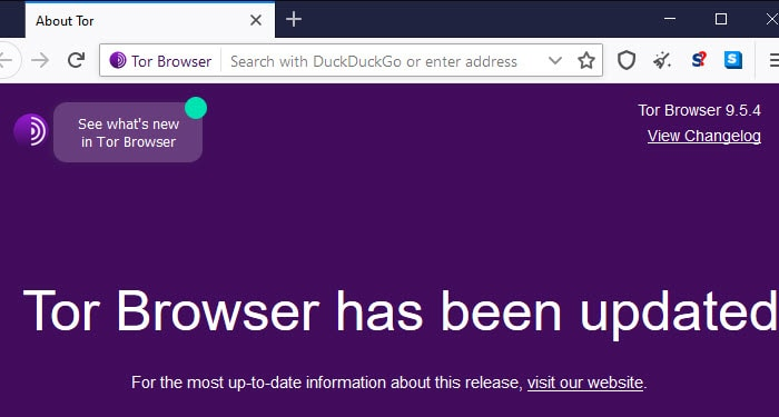Tor Browser has been updated