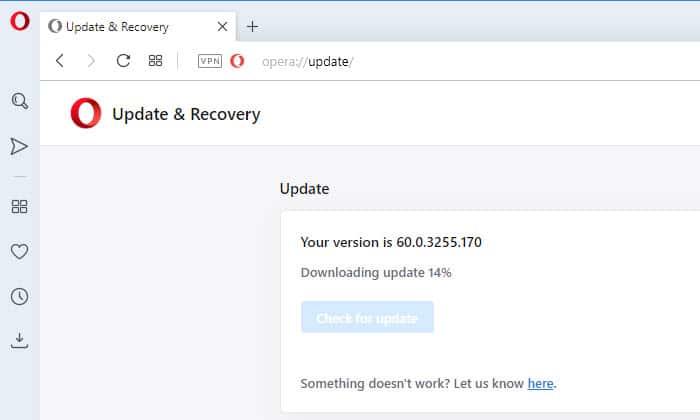 downloading update