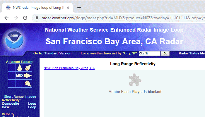 Unblock Flash content in Google Chrome