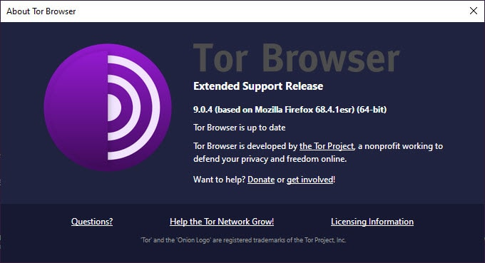 Tor Browser is up to date