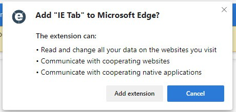 Add IE Tab to Microsoft Edge