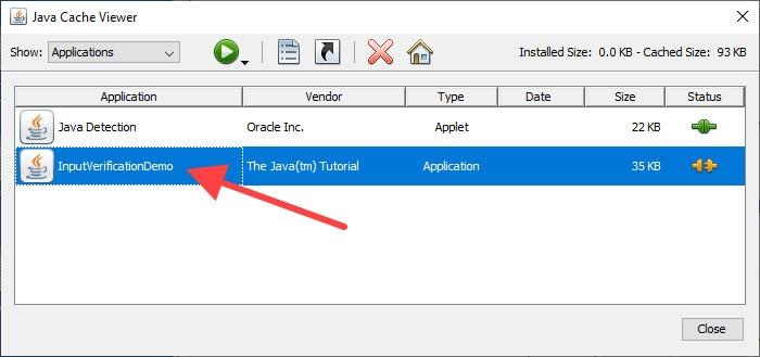 Java Cache Viewer Application
